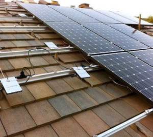 Enphase inverters mounted on roof