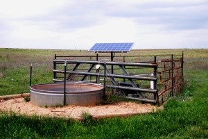 Custom solar packages supplying fresh water to livestock at a remote location