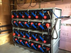 Lead Carbon batteries in a supplied rack