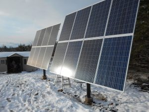 Canadian solar panels on a ground mount in Nova Scotia another solar panels Canada installation