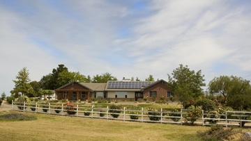 Solar power system on a rural home